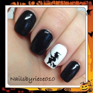 Witch nail art by Riece