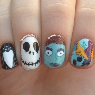 This is Halloween! nail art by Hannah