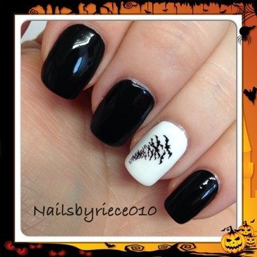Bats nail art by Riece