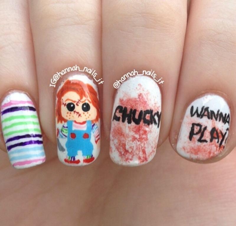 Child's Play nail art by Hannah