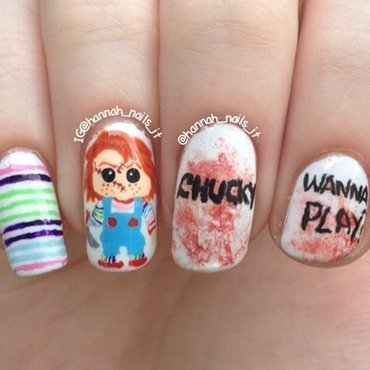 Child's Play nail art by Hannah