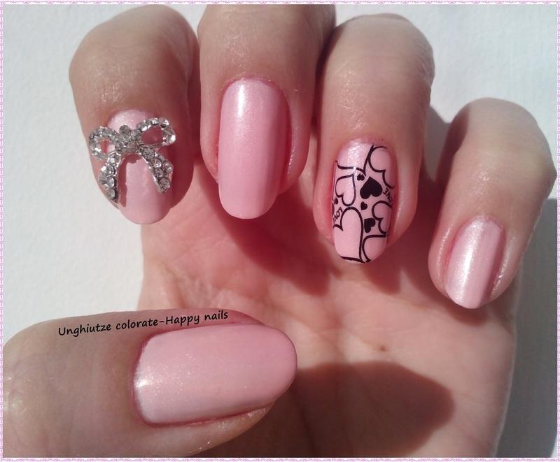 Pink October nail art by Oana  Alexandru