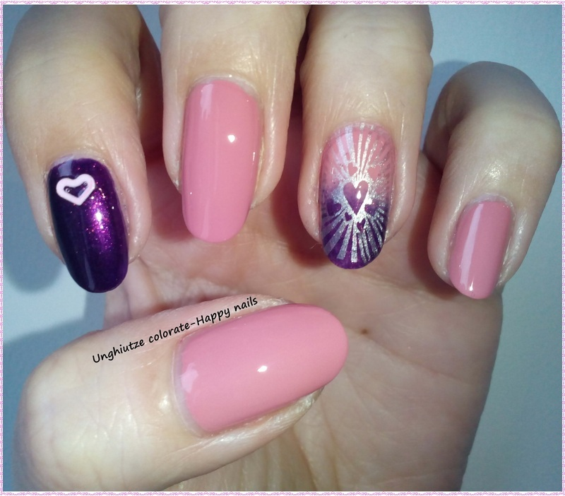 Think Pink nail art by Oana  Alexandru
