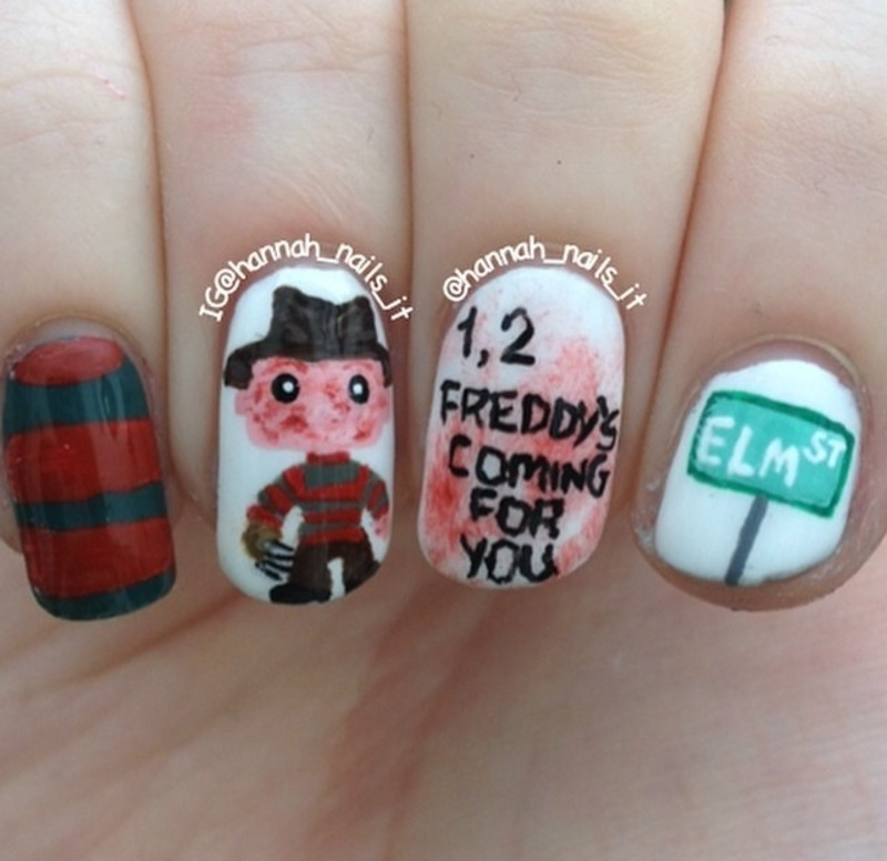 A Nightmare on Elm Street nail art by Hannah - Nailpolis: Museum of ...