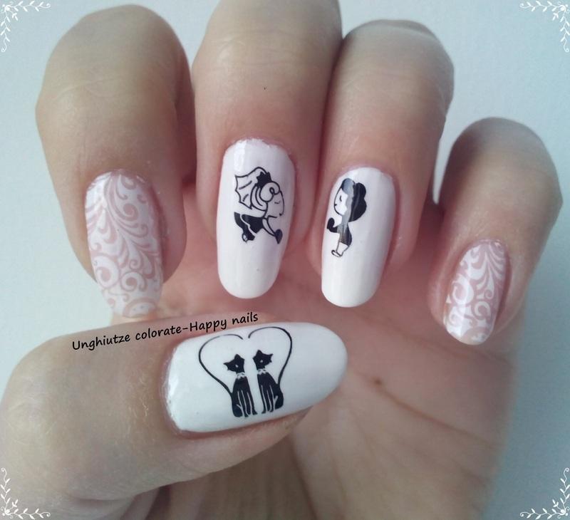 Wedding Day nail art by Oana  Alexandru