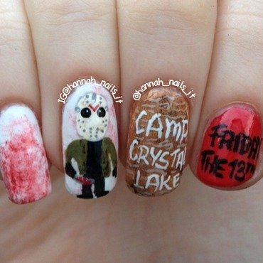 Friday the 13th nail art by Hannah