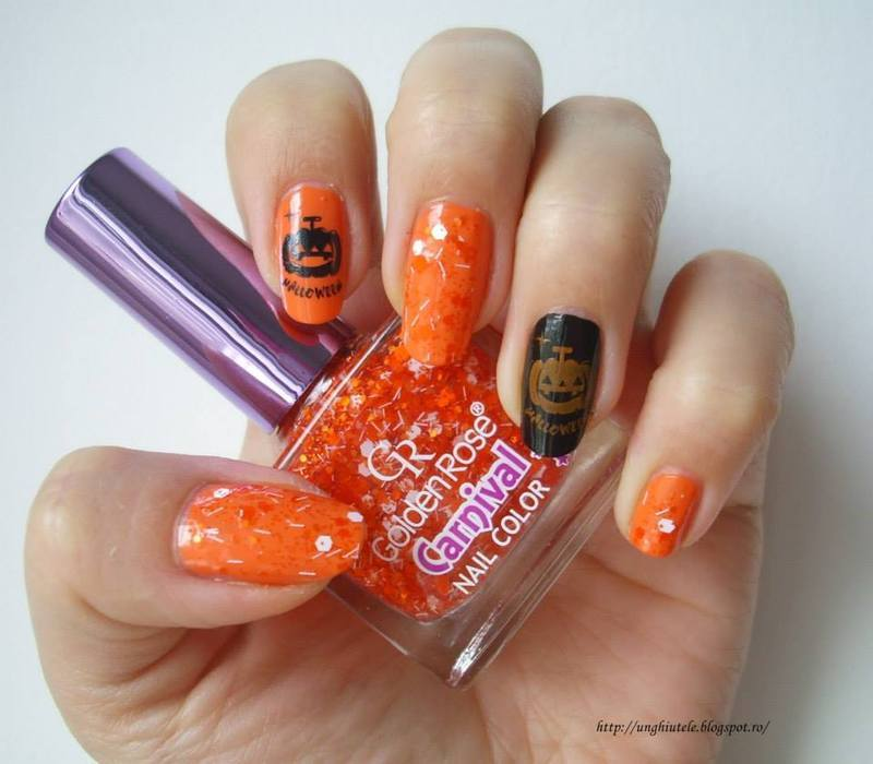 Halloween nail art by Oana  Alexandru