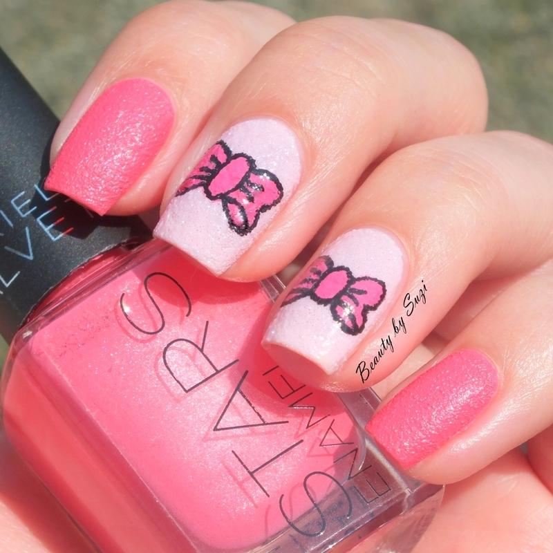 Pink Bow Nail Art nail art by Suzi - Beauty by Suzi