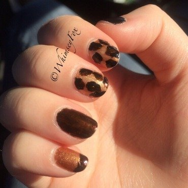 Luxe in Leopard Pt.2 nail art by WhimseyFox