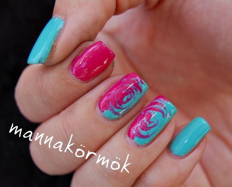 needle marble nail nail art by Marianna Kovács