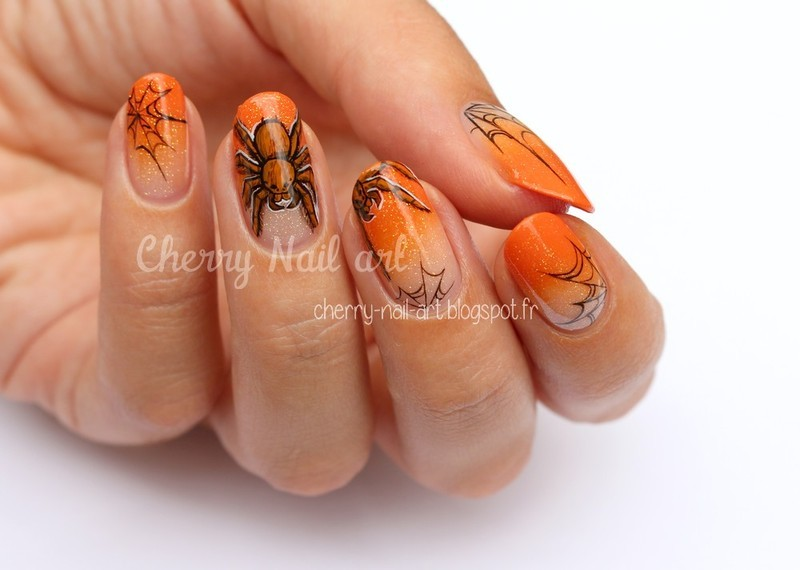 Nail art araignée nail art by Cherry Nail art