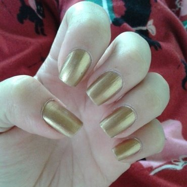 la vie in gold nail art by ameliavillars