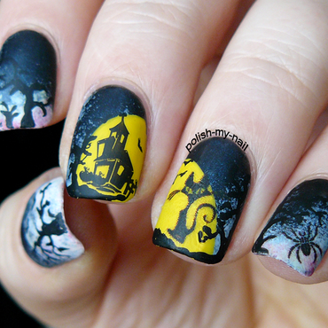Halloween nail art by Ewlyn