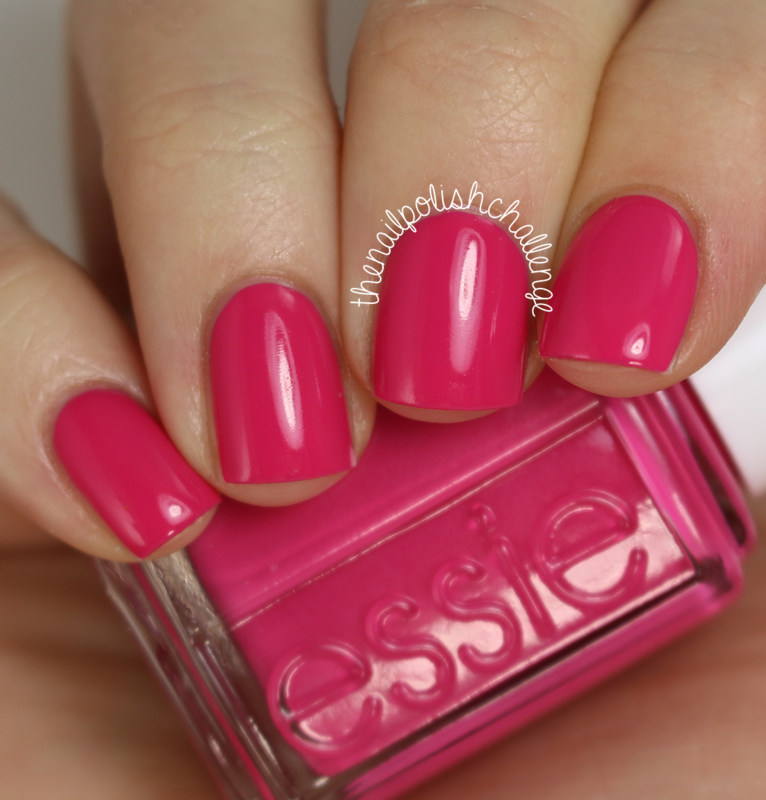 Essie Pink Happy Swatch by Kelli Dobrin - Nailpolis: Museum of Nail Art