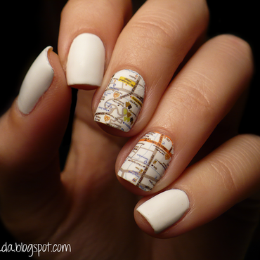 city map nail art by Contagiada