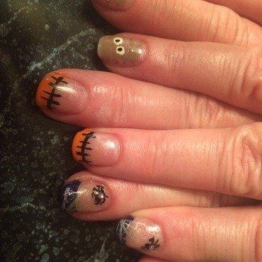 Halloween nail art by Kristen93