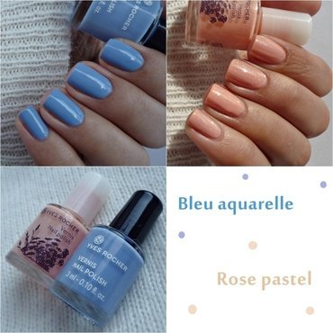 yves rocher Bleu aquarelle and yves rocher Rose pastel Swatch by Romana