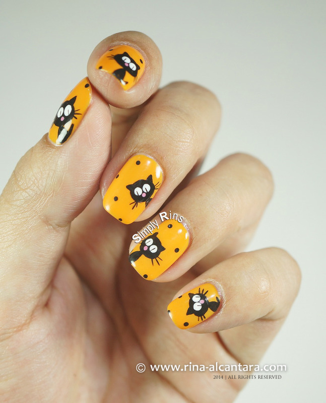 The Return of Black Cat Galore nail art by Rina Alcantara
