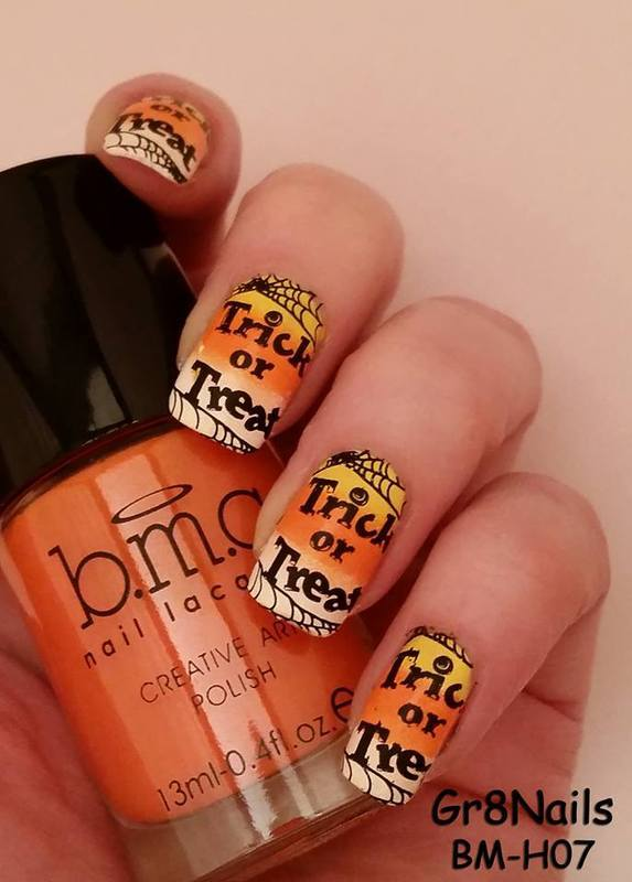 Trick or Treat nail art by Gr8Nails