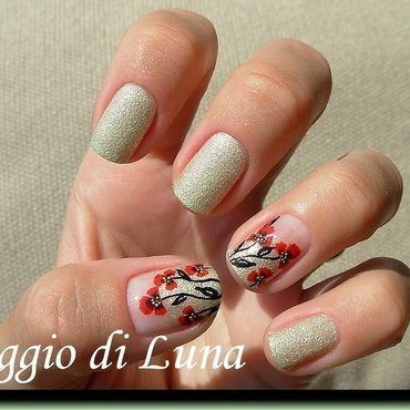 Poppies nail art by Tanja