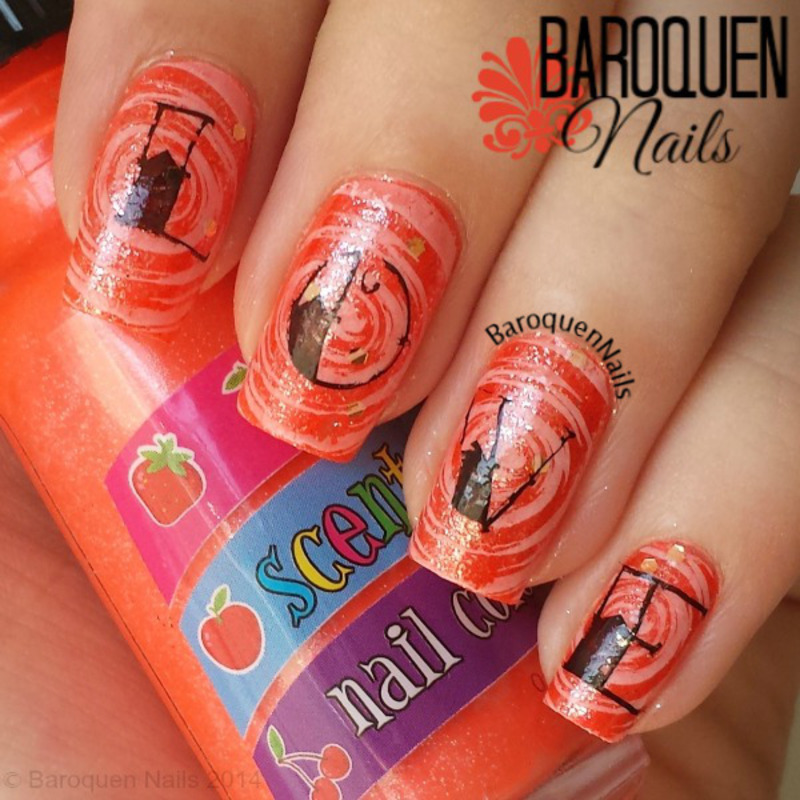 Love Potion nail art by BaroquenNails