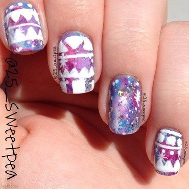 Tribal Galaxy Nail Art nail art by 25_sweetpea