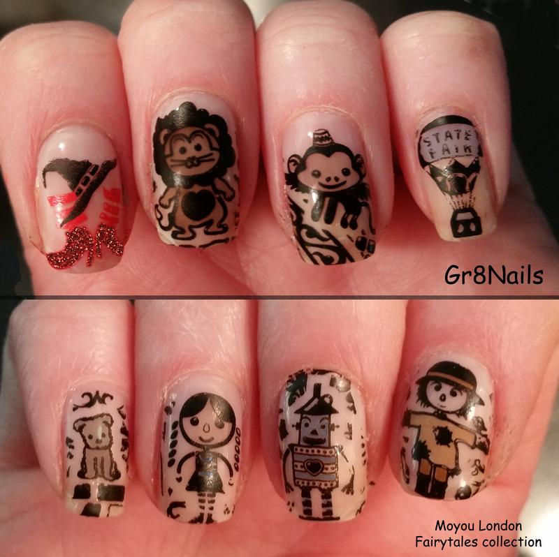 Wizard of Oz nail art by Gr8Nails