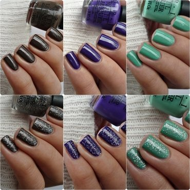 OPI My Voice is a Little Norse, OPI My Dogsled Is A Hybrid, OPI How Great Is Your Dane?, and OPI Do You Have This Color In Stock-Holm Swatch by Romana