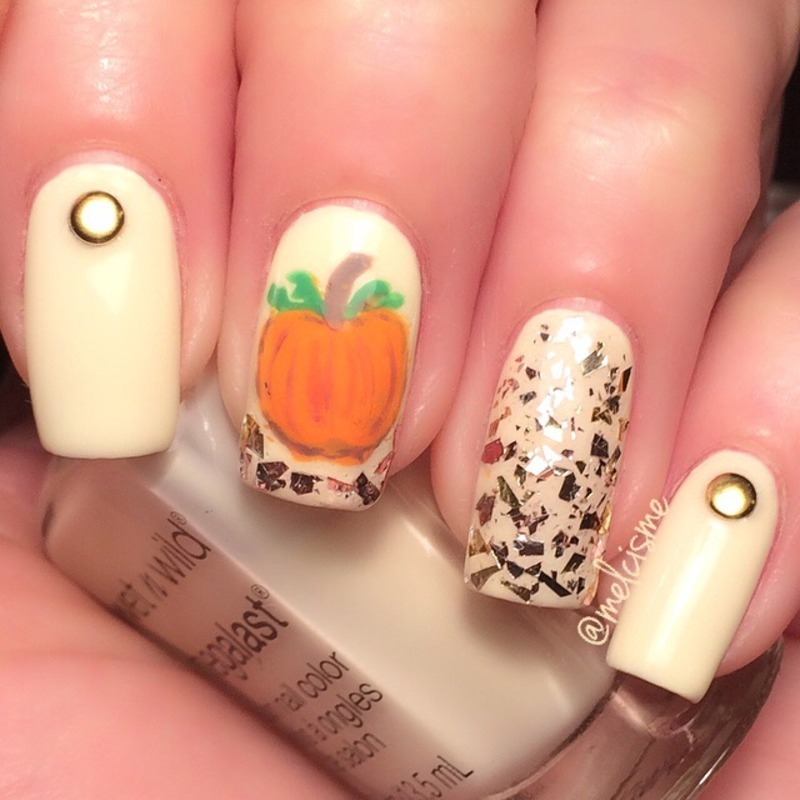 Fall nails nail art by Melissa
