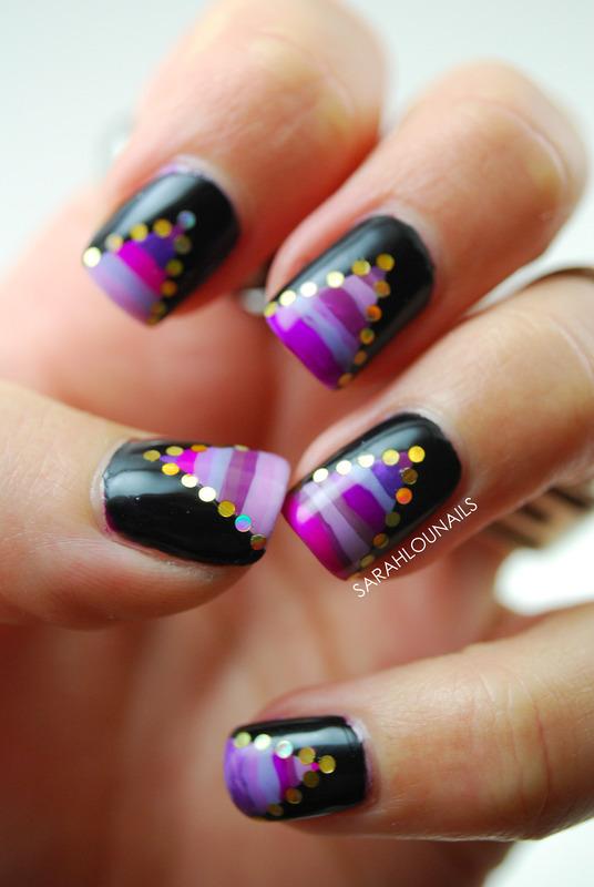 Aria Night Out Nails! nail art by Sarah S