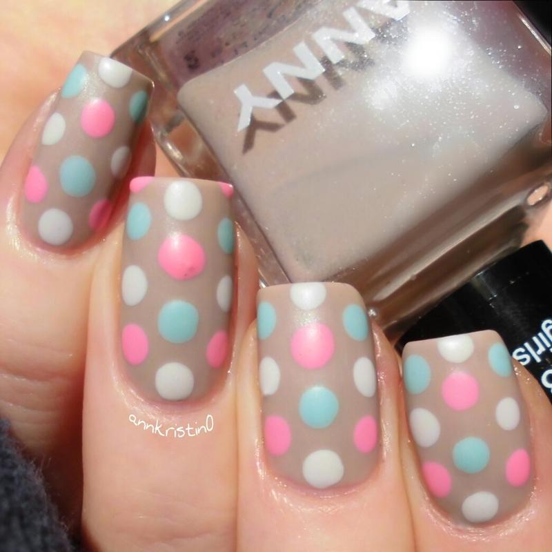 Candy Dotticure nail art by Ann-Kristin