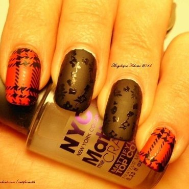 Plaid nail art by Angelique Adams