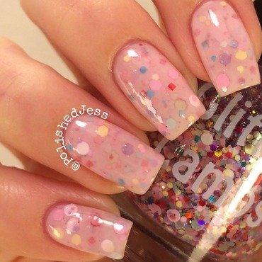 Cotton Candy Jelly Sandwich  nail art by PolishedJess
