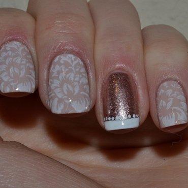 Elegant flowers nail art by Svetlana Tsad