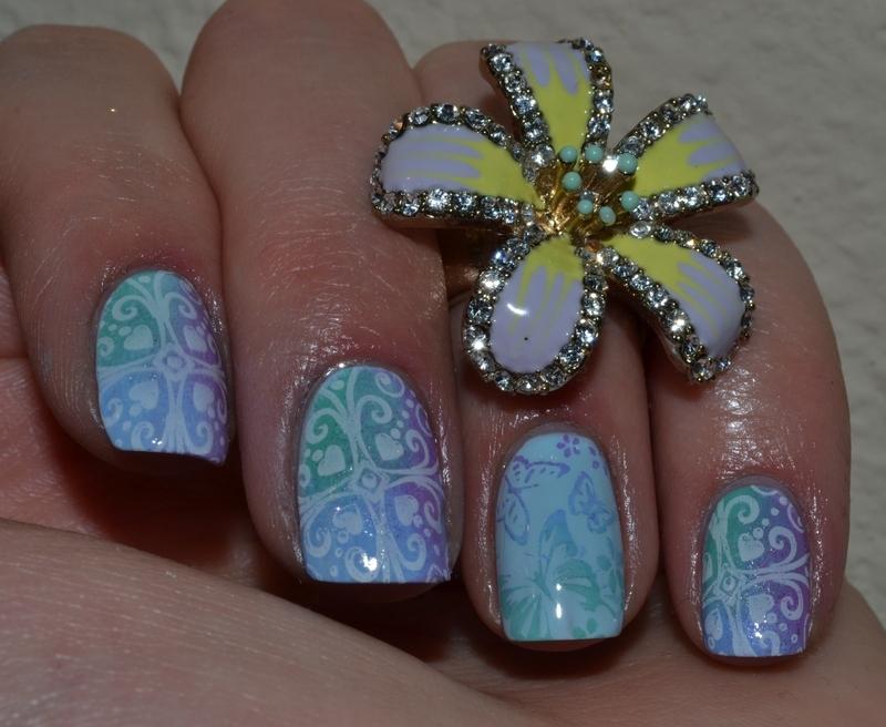 Tropical paradise nail art by Svetlana Tsad