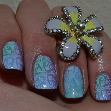 Tropical paradise nail art by Svetlana Tsad