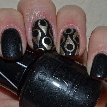 Black onyx nail art by Svetlana Tsad