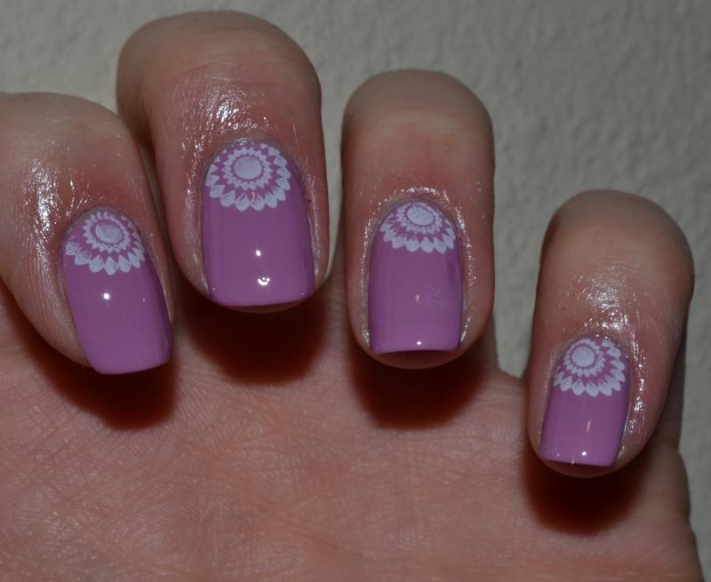 Lavender Nails nail art by Svetlana Tsad