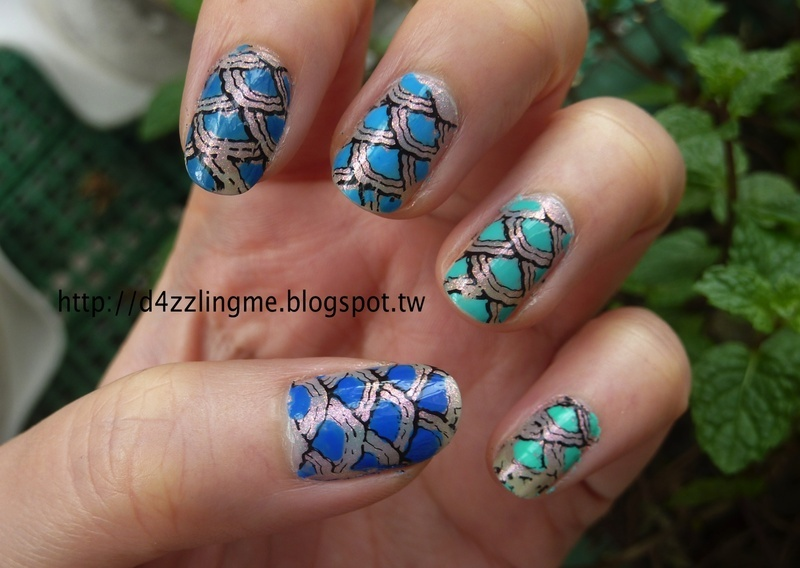 Mermaid nail art by D4zzling Me