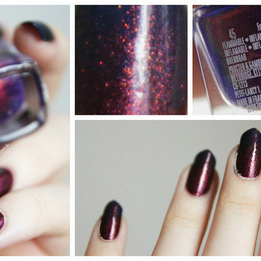 Dark Magic nail art by Robin