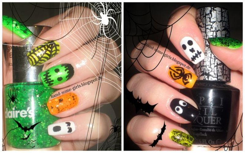 Spooky Halloween  nail art by greeench