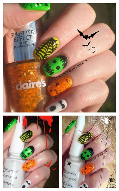 Halloween Nails nail art by greeench