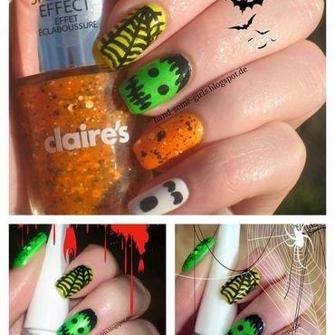 Halloween Nails nail art by greeench