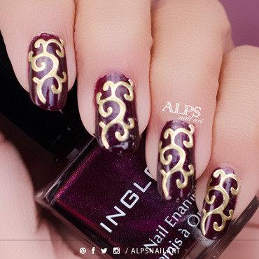 Diwali Nail Art by @alpsnailart nail art by Alpsnailart