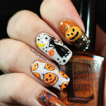 Pumpkin Patch nail art by Karolyn