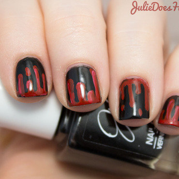Dripping Blood Halloween Nail Art nail art by Julie