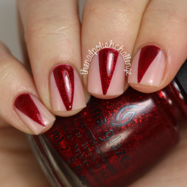 Sparkly Red Claws Nail Art nail art by Kelli Dobrin