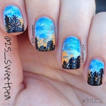 Orlando Sunset nail art by 25_sweetpea