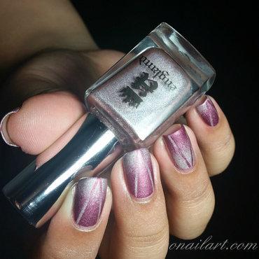 Mat Reciprocal Gradient Nails nail art by OnailArt