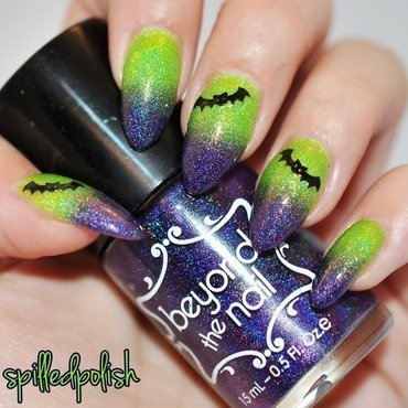 Frankenstein Inspired Nails nail art by Maddy S